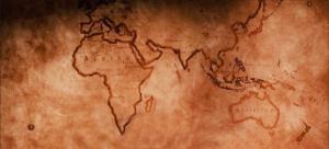 Weltkarte in der Coffeebar Siegen