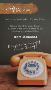 Coffeebar to go Telefonnummer